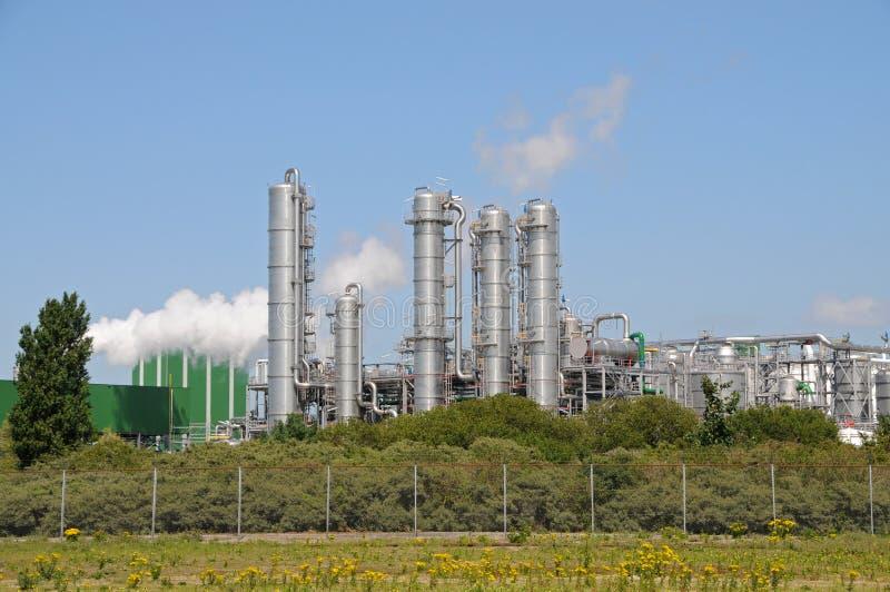 Bio- pianta dell'etanolo fotografie stock libere da diritti