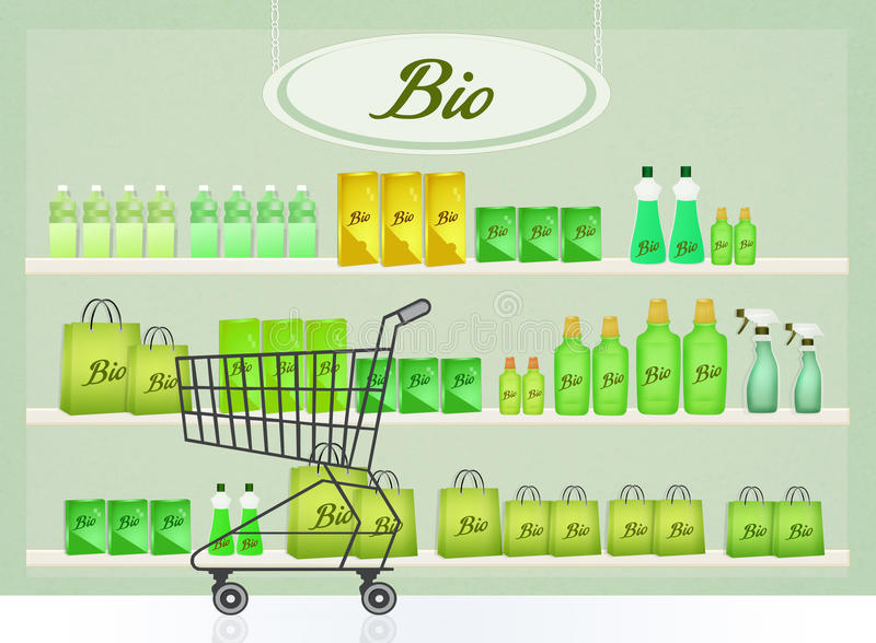 Bio products. Cute illustration of bio products royalty free illustration