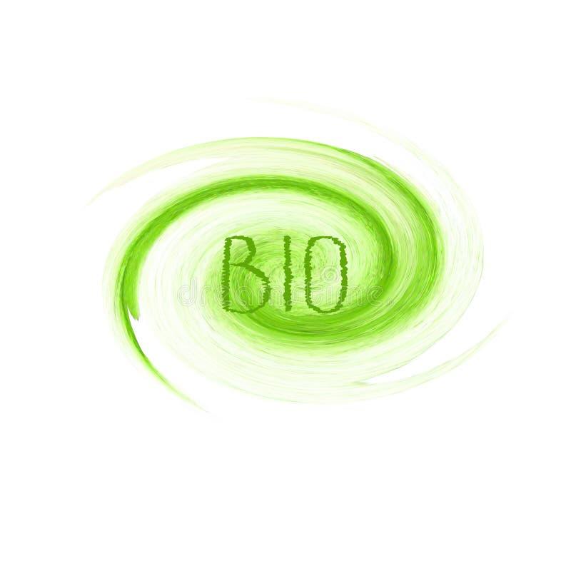 Bio projeto do logotipo do conceito de produto ilustração do vetor