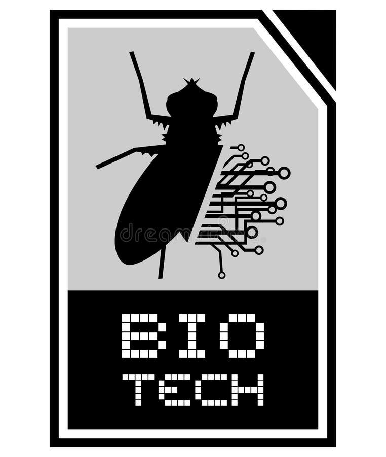 Bio símbolo da tecnologia ilustração royalty free