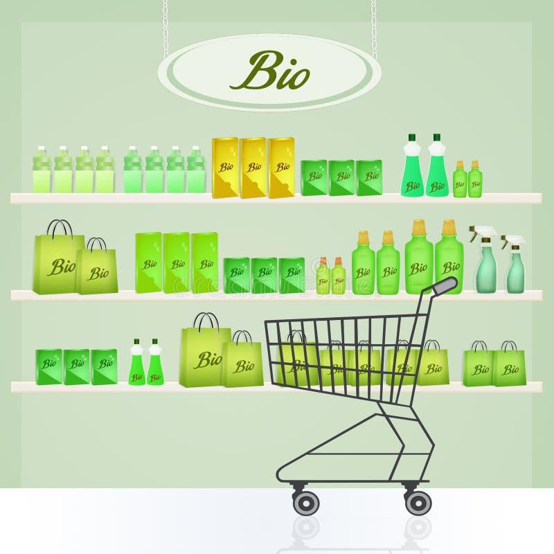 Bio shop. Cute illustration of bio shop vector illustration