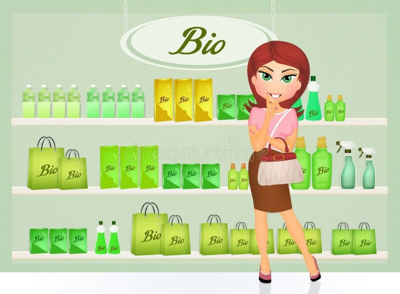 Bio shop. Cute illustration of bio shop stock illustration