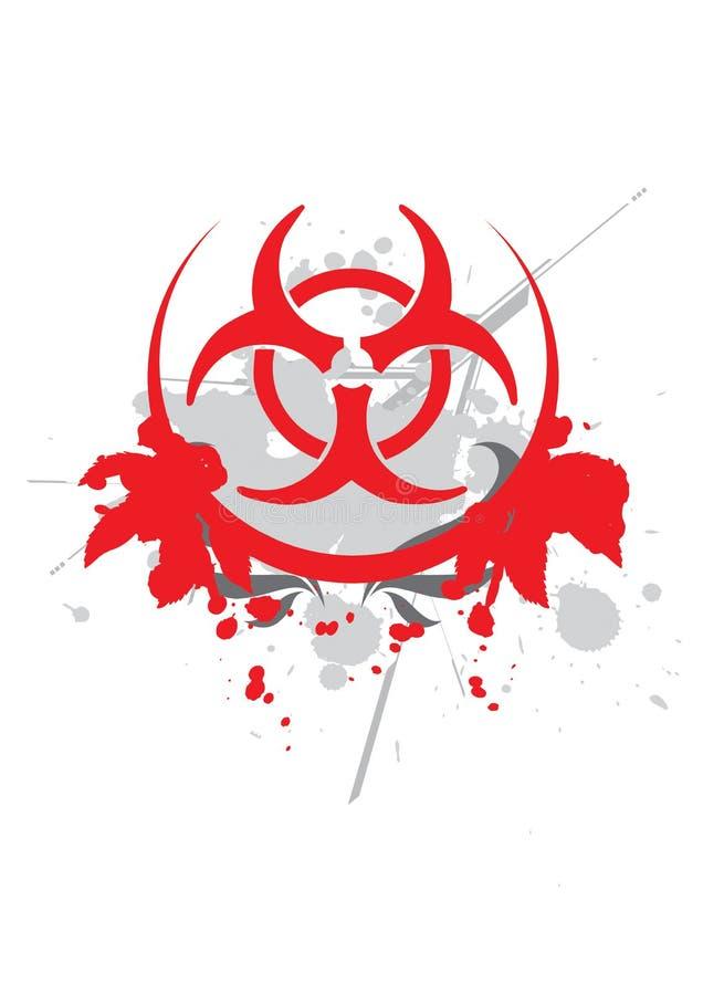 Bio symbole de risque - vecteur illustration libre de droits