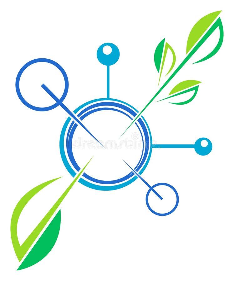 Bio teknologi royaltyfri illustrationer