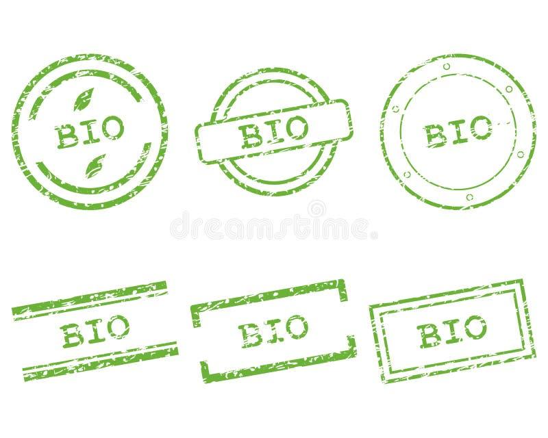 Bio timbre illustration stock