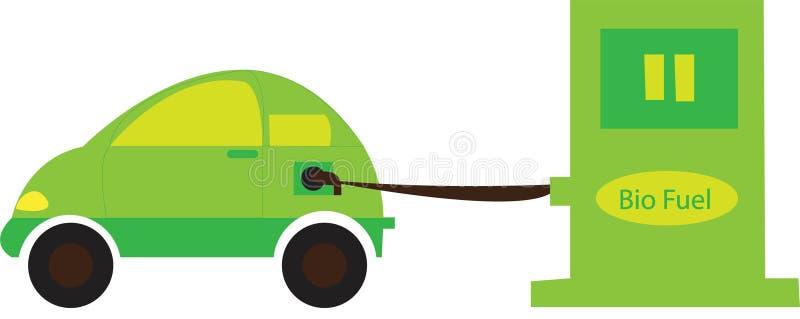 Bio véhicule d'essence illustration de vecteur