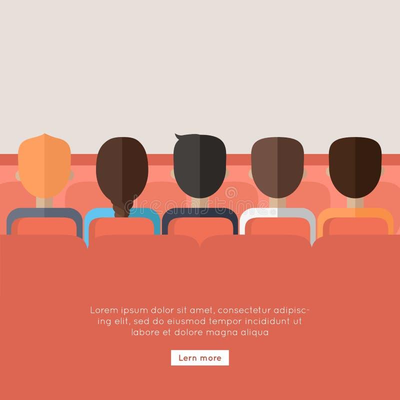 bio Whatching online-film om framgång stock illustrationer