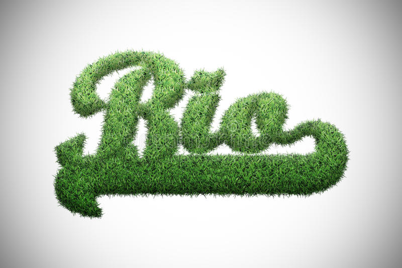 Bio word. Written with green grass royalty free illustration