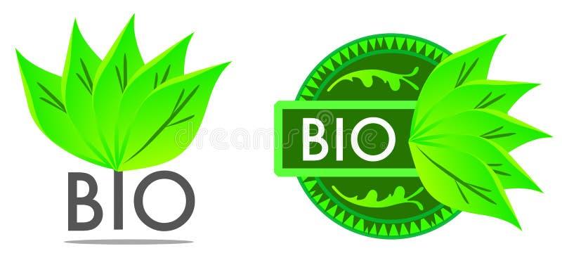 Bioaufkleber des biologischen Lebensmittels lizenzfreie abbildung