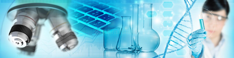 Biochemical forskningbegreppsbakgrund vektor illustrationer