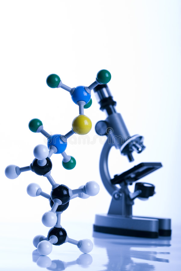 Biochemie en atoom royalty-vrije stock foto