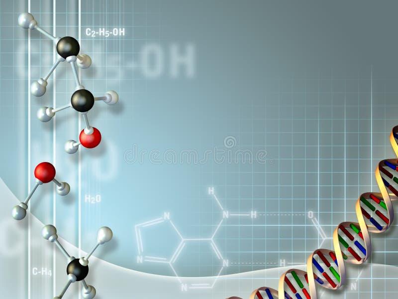 Biochemische Industrie lizenzfreie abbildung