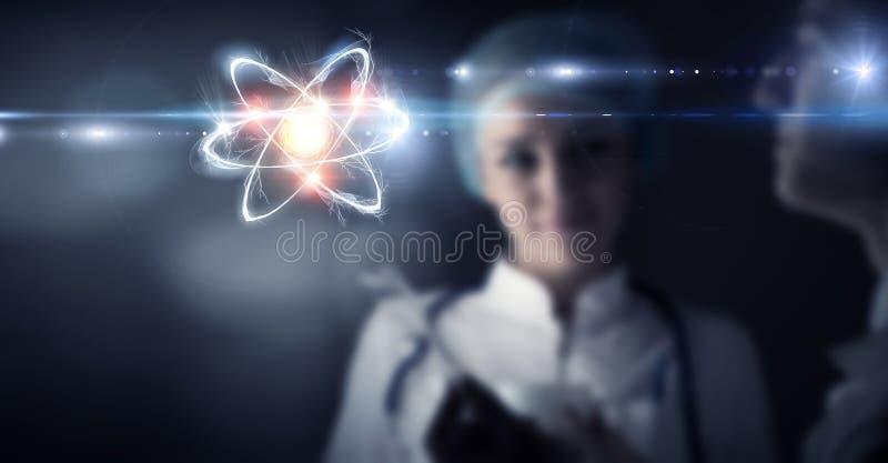 Biochimie et technologies Media mélangé illustration de vecteur