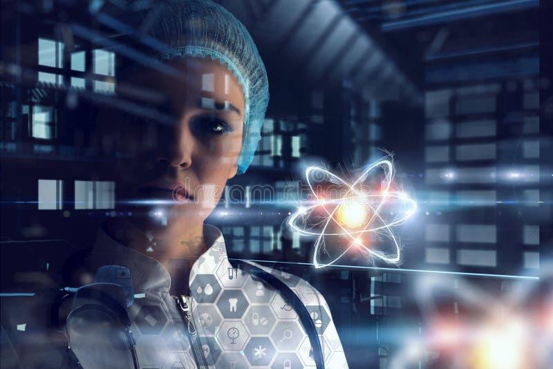 Biochimie et technologies Media mélangé illustration libre de droits