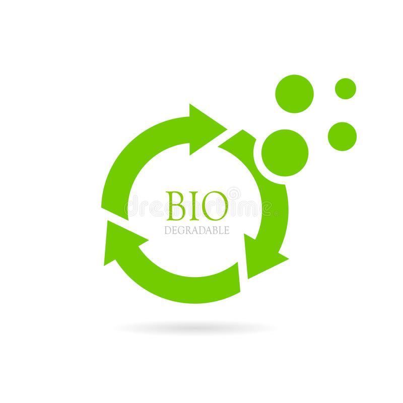 Biodegradable abstract vector icon royalty free illustration