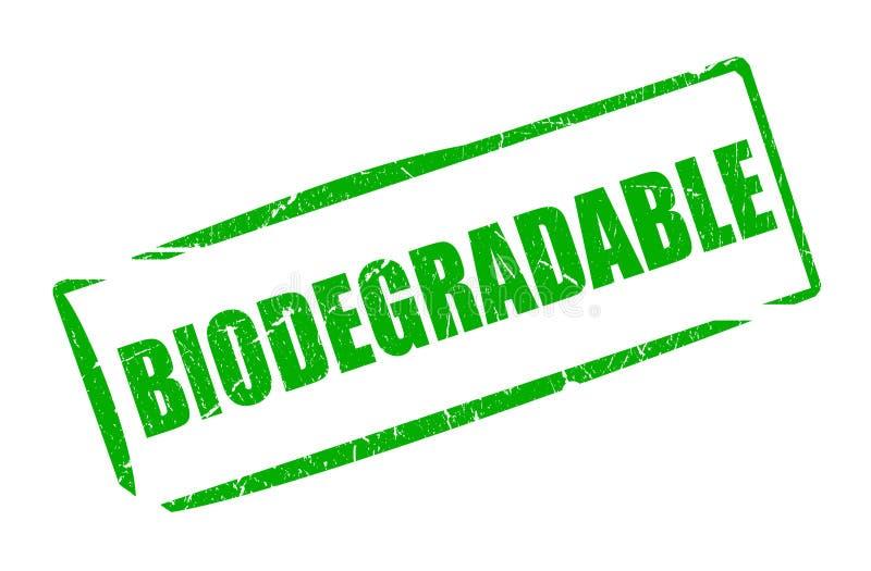 Biodegradable rectantular rubber stamp. Biodegradable rectangular rubber stamp illustration stock illustration