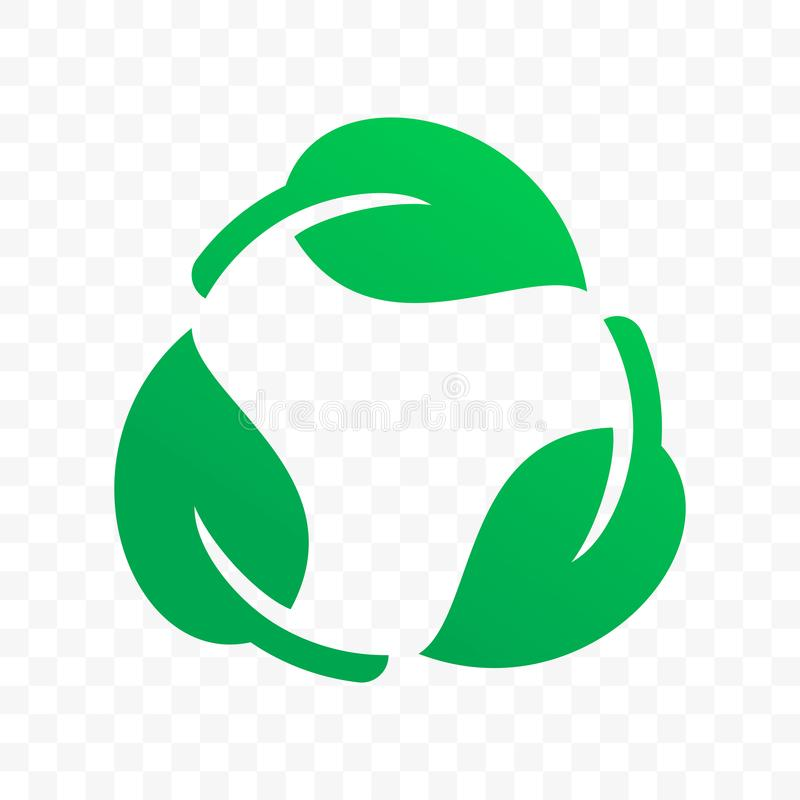 Biodegradable recyclable klingerytu etykietki wektoru bezpłatna ikona Eco recyclable i degradable bezpieczny życiorys pakunku zna ilustracja wektor