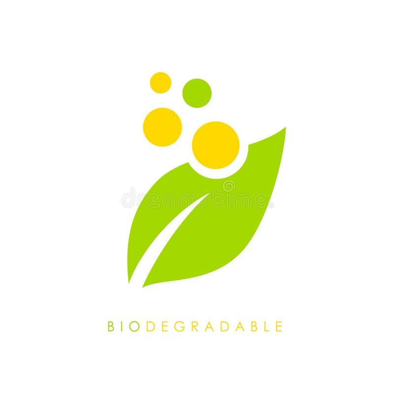 Biodegradable vector logo vector illustration