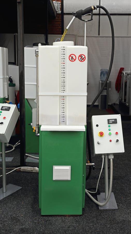 Biodieselwiederverwertung stockfotos
