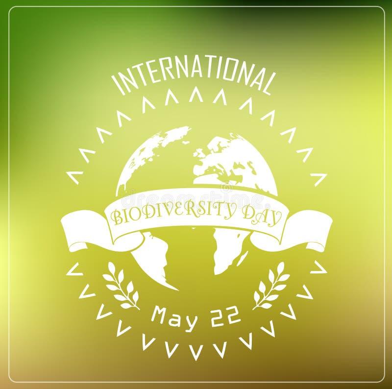Biodiversity international day background concept typography stock illustration