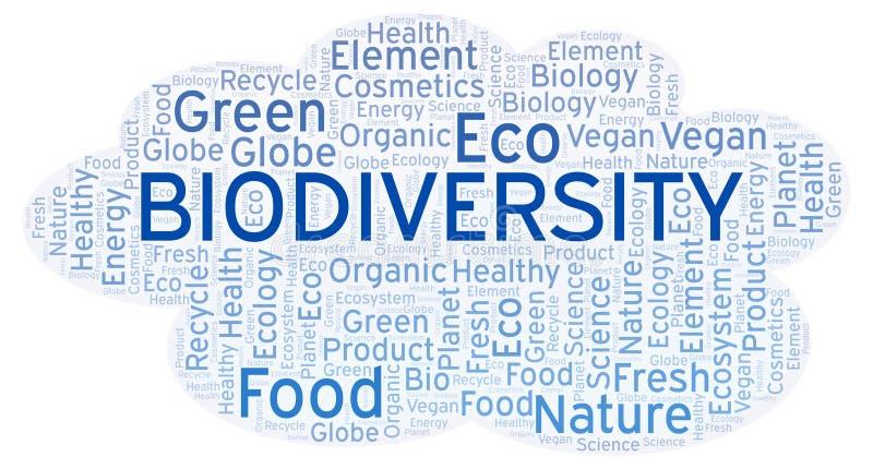 Biodiversity word cloud. vector illustration