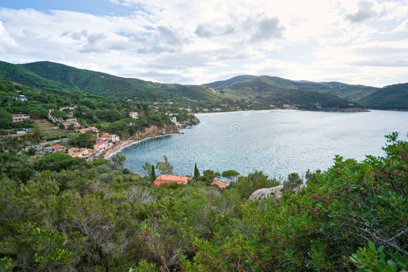 Biodola, Portoferraio, Isle of Elba. View of the Bay of Biodola, Portoferraio, Elba Island royalty free stock image