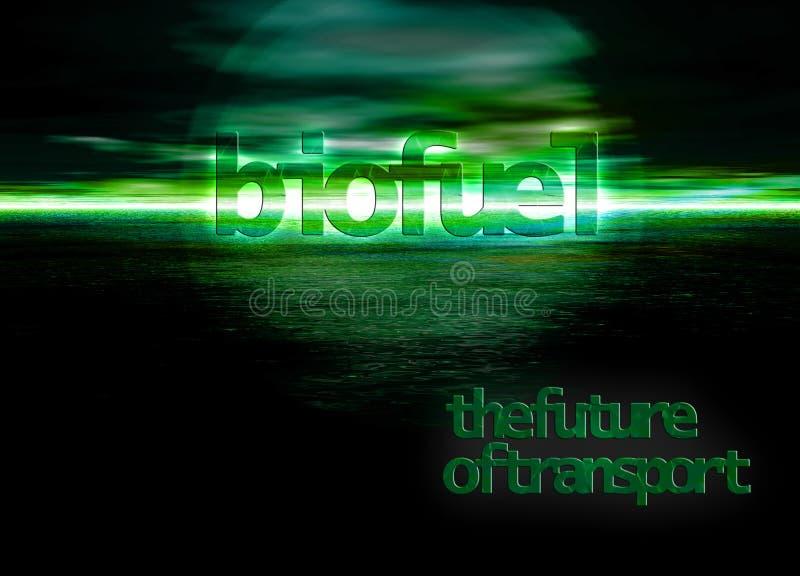Bioenergia do combustível biológico o futuro da energia no Seascape ilustração stock