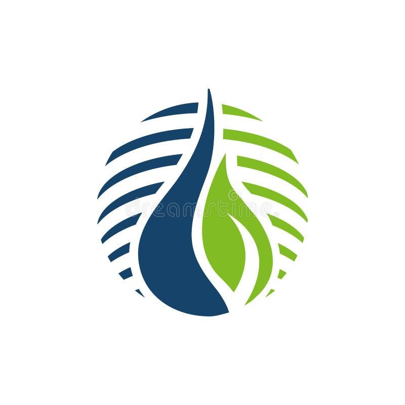 Bioenergy logo design vector eco friendly renewable icon symbol illustration. Alternative, global, tree, simple, modern, recycle, lightning, environmental vector illustration