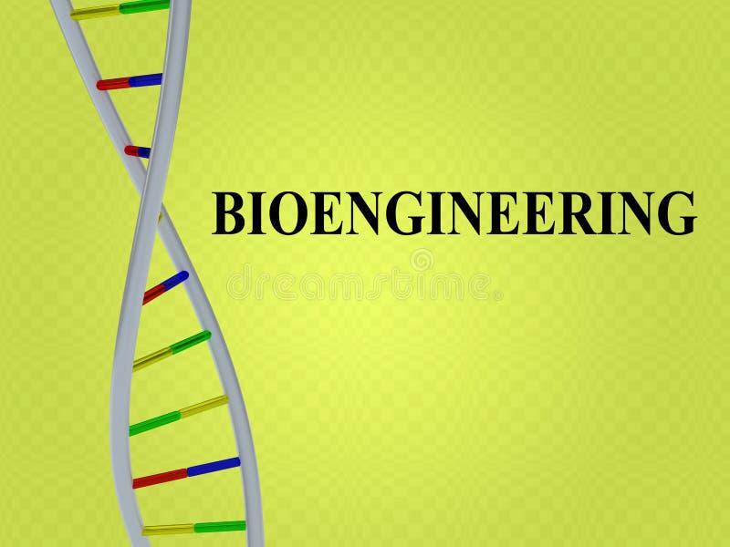 Bioengineering - biotechnological pojęcie royalty ilustracja