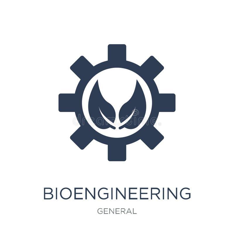 bioengineering ikona Modna płaska wektorowa bioengineering ikona na w ilustracja wektor