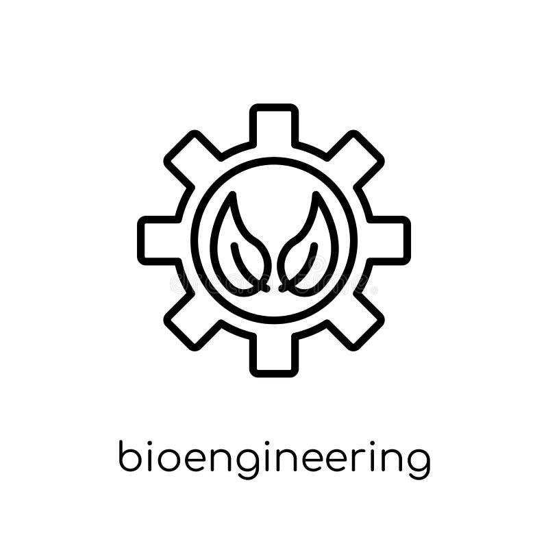 bioengineering ikona Modny nowożytny płaski liniowy wektorowy bioenginee royalty ilustracja