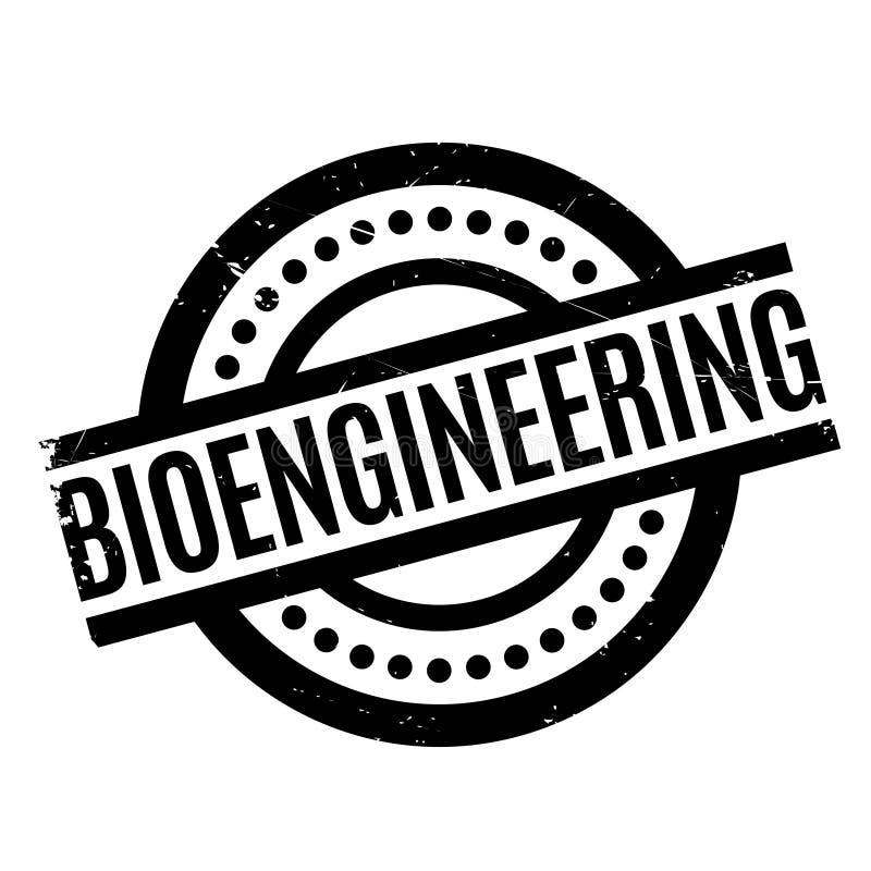 Bioengineering pieczątka ilustracji