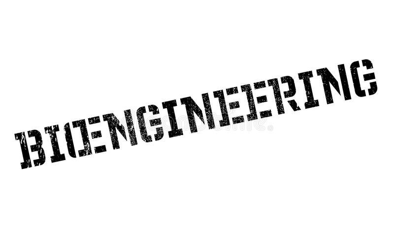 Bioengineering pieczątka ilustracja wektor