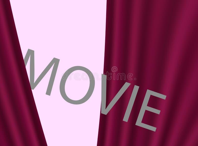 Biofilmpremiär, design Bakgrund med röda gardiner vektor illustrationer