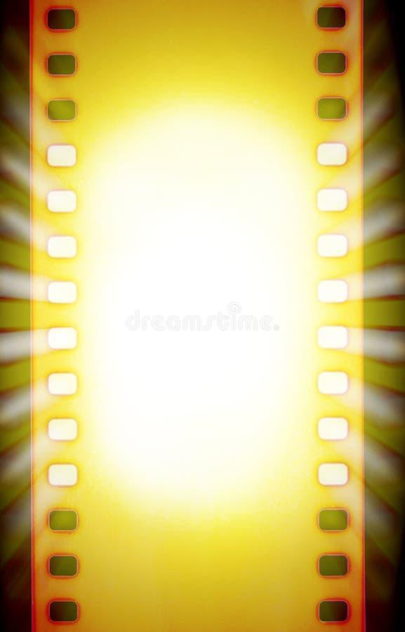 Biofilmremsor med ljusa strålar för nedräkning och för projektor stock illustrationer