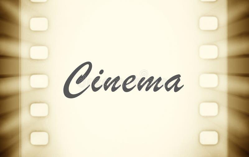 Biofilmremsor med och ljusa strålar för projektor stock illustrationer