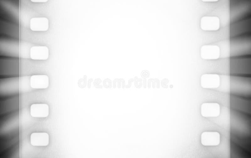 Biofilmremsor med och ljusa strålar för projektor svart white vektor illustrationer