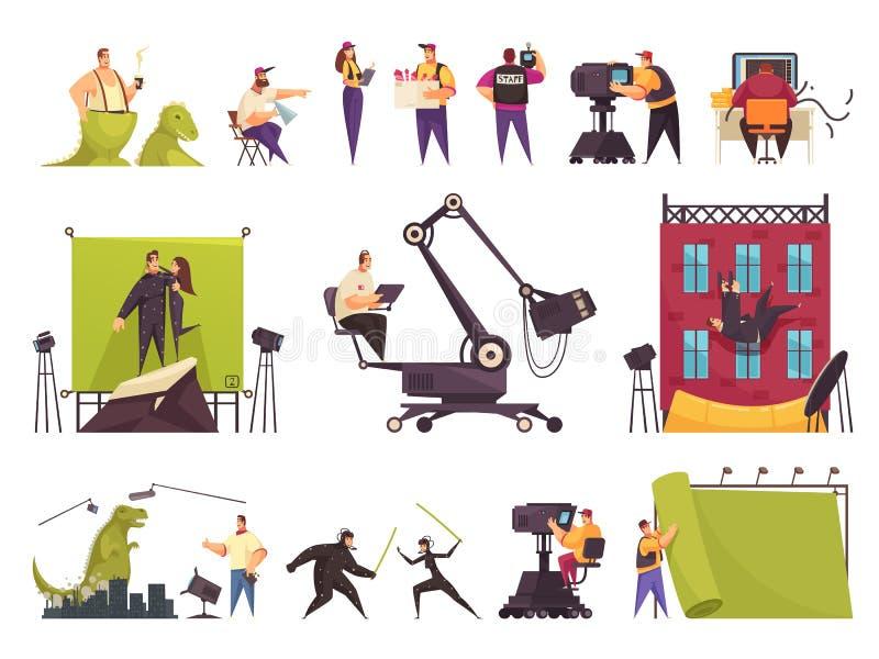 Biofilmuppsättning royaltyfri illustrationer