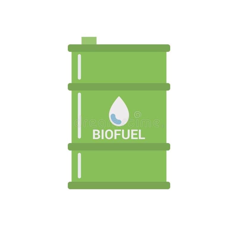 Biofuel Barrel Vecto Icon vector illustration