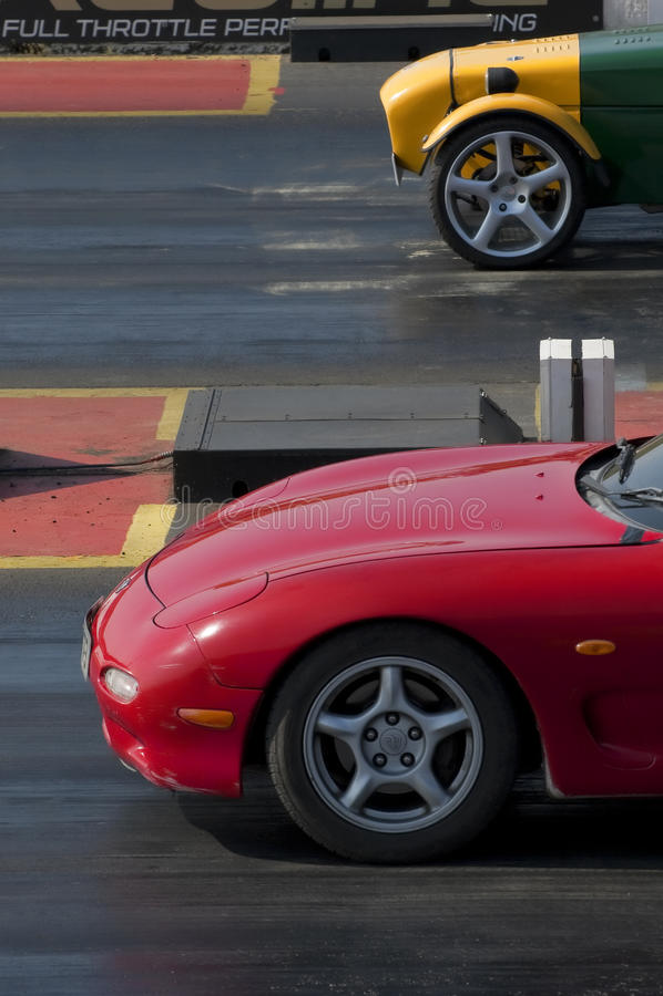 Biofuel drag race royalty free stock image