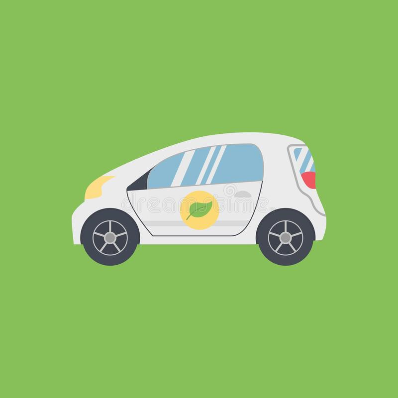 Biofuel Green Energy Car stock illustration