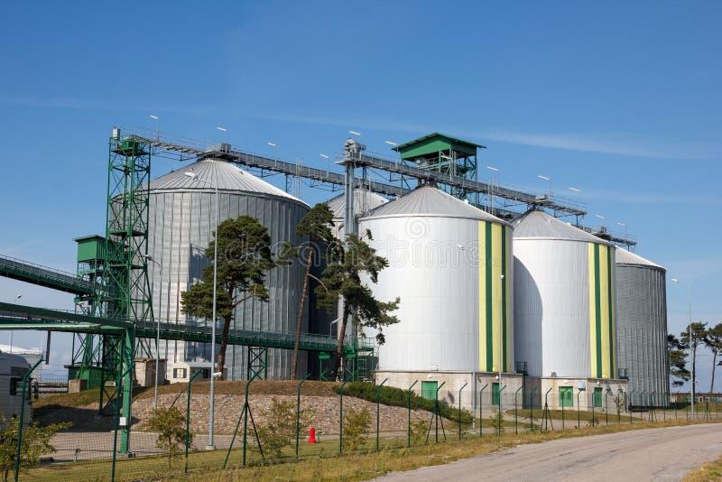 Biofuel tanks royalty-vrije stock foto's