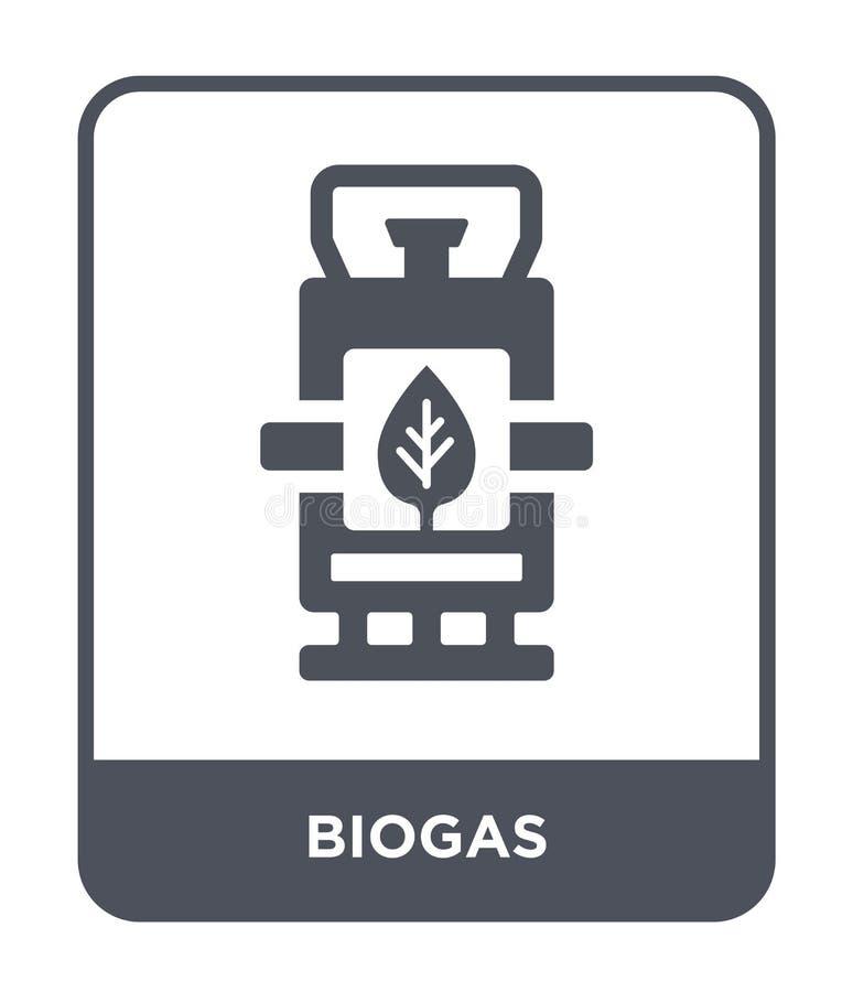 biogas ikona w modnym projekta stylu biogas ikona odizolowywająca na białym tle biogas wektorowej ikony prosty i nowożytny płaski ilustracja wektor