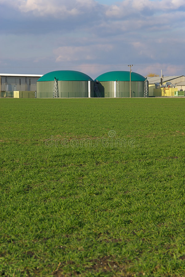 Biogas plant 05 royalty free stock photography