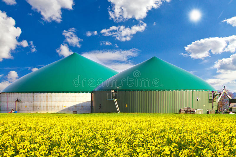 Biogas production royalty free stock photos