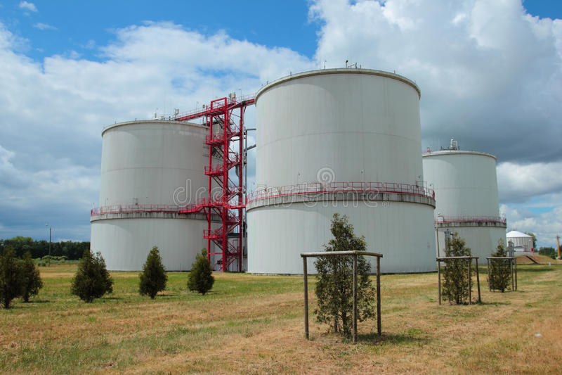 Biogas reservoirs stock photos