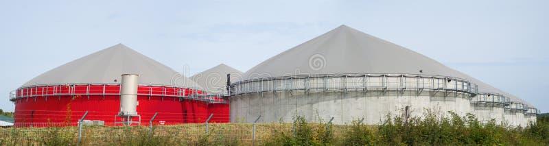 Biogasanlage. stockfoto