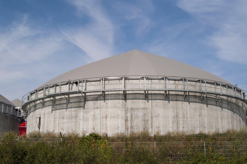 Biogasbecken. lizenzfreie stockbilder