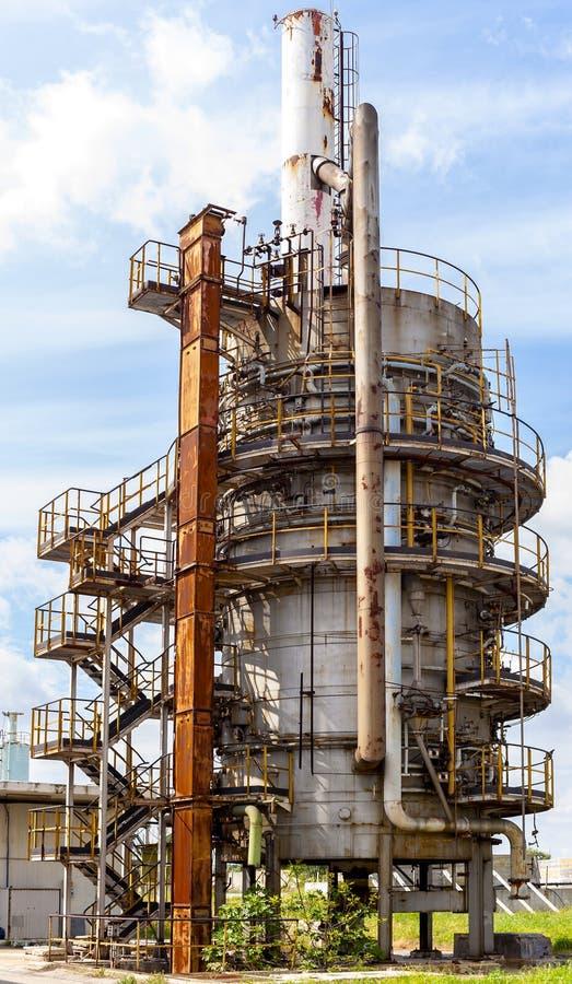 Biogasfackla arkivbild