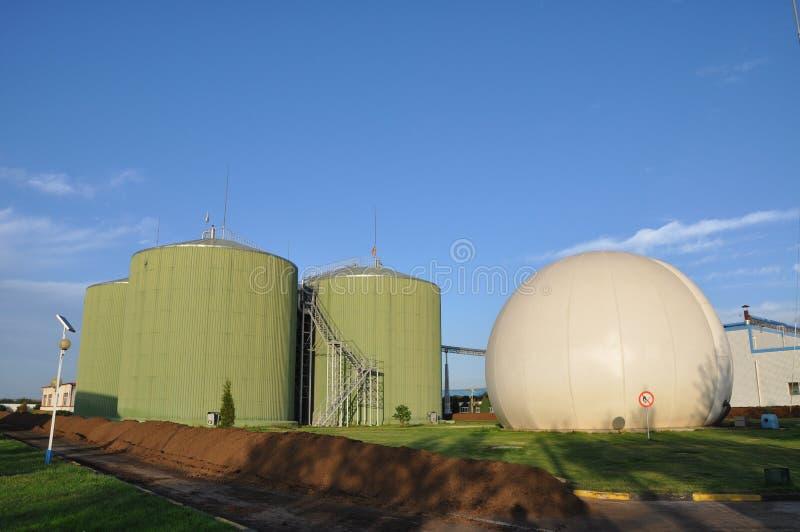 Biogastechnik stockbilder